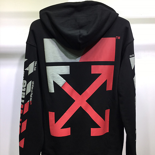OFF-WHITE ( オフホワイト ) Warning sweatshirt パーカー AW19