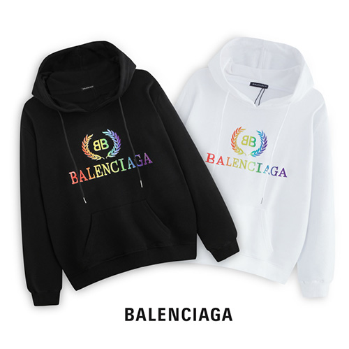 BALENCIAGA ( バレンシアガ ) AW19 Rainbow logo パーカー
