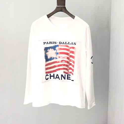 シャネル ( Chanel ) flag US slogan letter ロゴ トレーナー