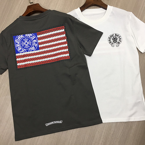 chrome Heart (クロムハーツ) USA star flag Tシャツ
