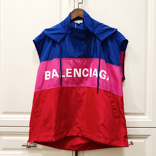 BALENCIAGA ( バレンシアガ ) 19ss letter sleeveless hooded sun protection セットアップ