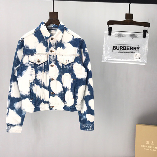 Burberrys (バーバリー) blue and white tie dyed color デニムジャケット AW19