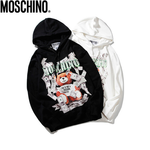 Moschino (モスキーノ) Banknotes US Golden Bear パーカー AW19