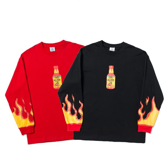 vetements ( ヴェトモン ) Hot Sauce ロングTシャツ AW19