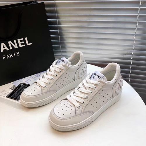 シャネル ( CHANEL ) ロゴマルチカラースニーカー 2020 white