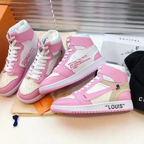 Nike (ナイキ) Air Jordan (エアジョーダン) × Off-White (オフホワイト) レトロ ハイ OG pink
