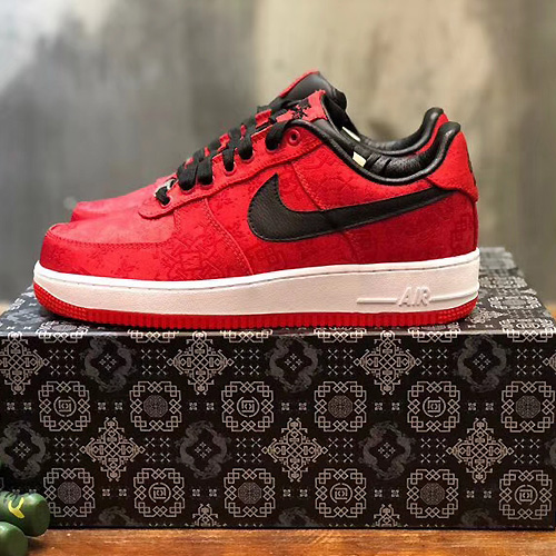 Clot ( クロット ) × Fragment ( フラグメント ) × Nike ( ナイキ ) Air Force 1  プレミアム レッドシルク