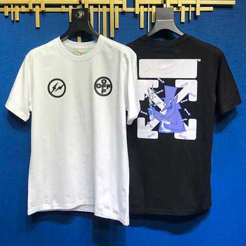 OFF WHITE (オフホワイト) × FRAGMENT DESIGN アブロー フラグメント デザイン シーリアル Tシャツ fw19